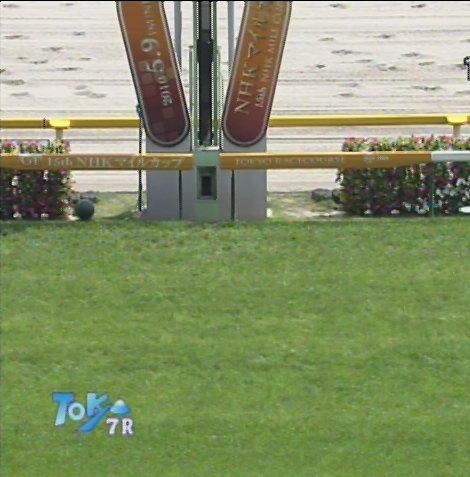 第15回NHKマイルカップのゴール板(5月8日(土)東京7R)