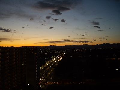 冬の夕陽20100107