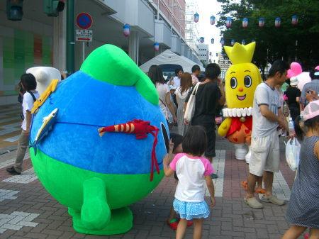 新潟県内のゆるキャラが万代シティに集合中?