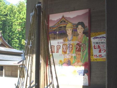 弥彦神社菊まつりの準備中2010-01