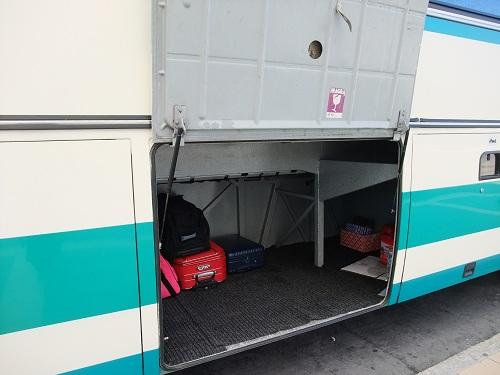 バスの荷物置き場