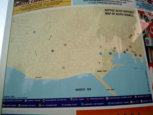 イカリア_アギオス・キリコスの地図