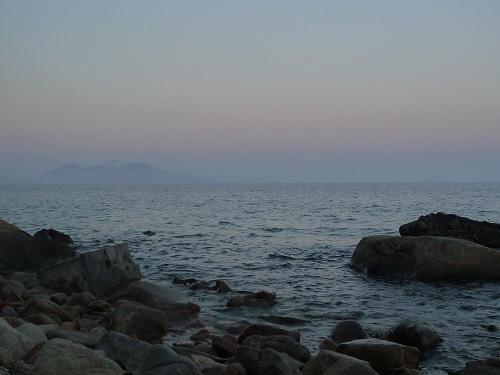 夕暮れの海岸温泉 (2)