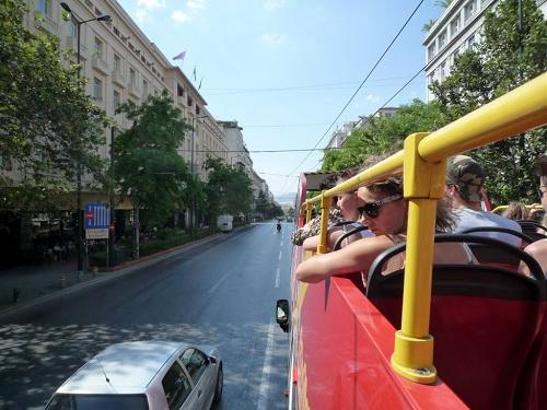 アテネ_サイト・シーイングのバス