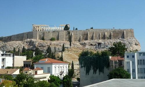 アテネ_博物館から見たアクロポリス (2)