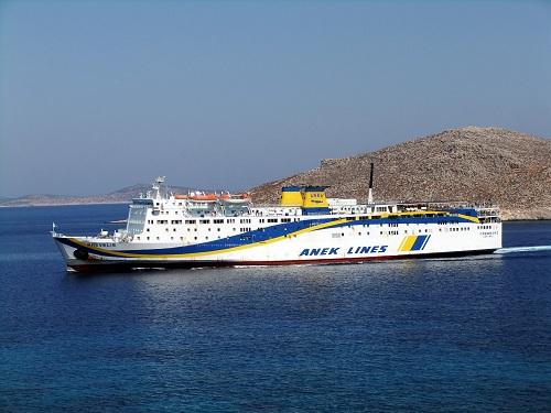 ロドスに行く前にハルキに到着したプレヴェリス号