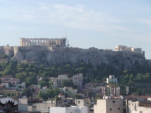 アテネ_ホテルから見たアクロポリス