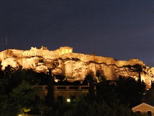 アテネ_夜のアクロポリス