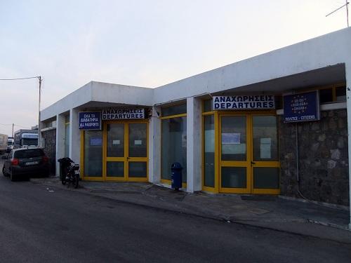 ヒオス_国際線の乗り場