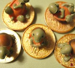 中華街の亀5匹