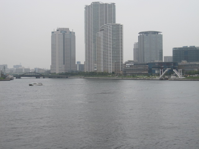 晴海大橋 晴海運河 上流