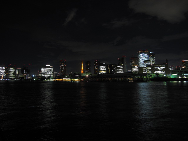 夜景 勝鬨橋から河口