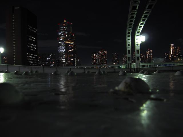 夜景 勝鬨橋から上流