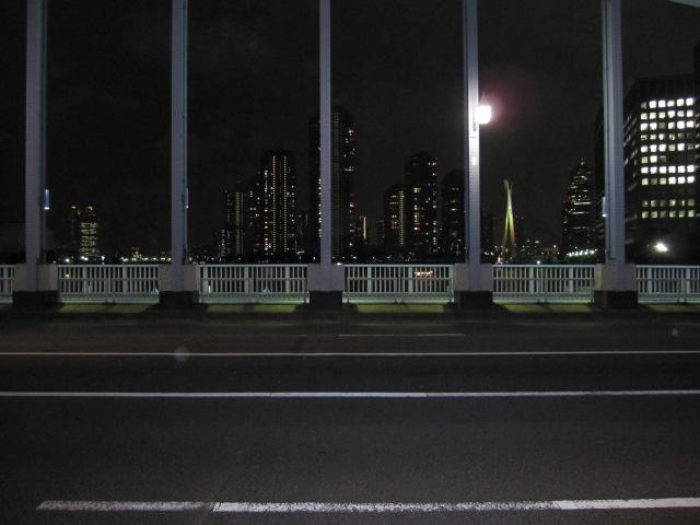 永代橋 夜道