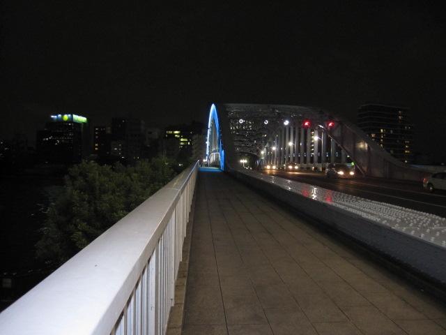 暗くなった永代橋