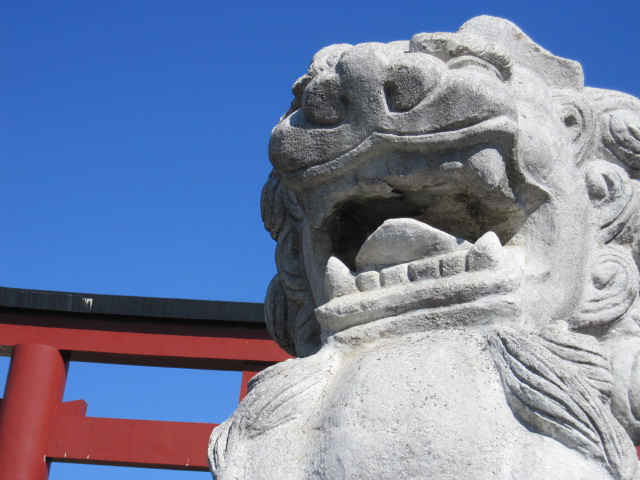 鶴岡八幡宮 阿吽の阿