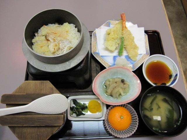 鯛釜飯定食