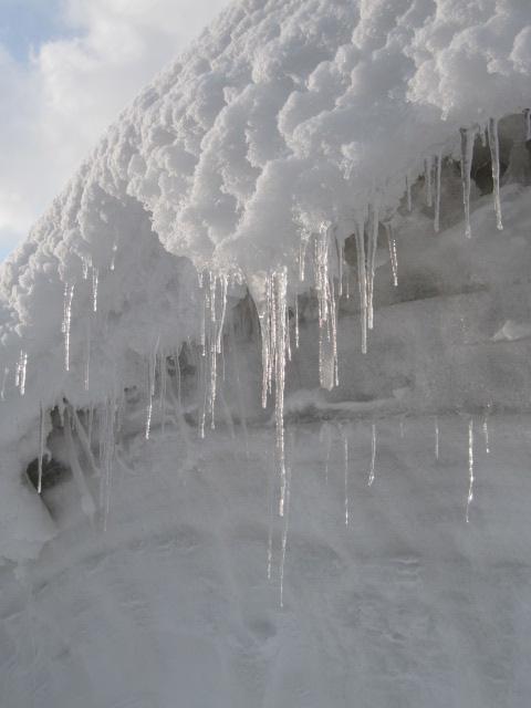 雪とツララ 玉川