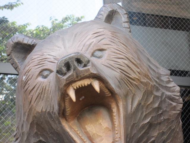 木彫りの熊 顔