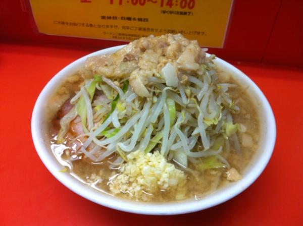 ラーメン二郎 神田神保町店 ラーメン(小) ニンニクアブラカラメ