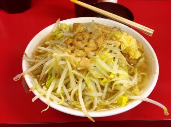ラーメン二郎 千住大橋店 ラーメン(小) ニンニクアブラ 卵
