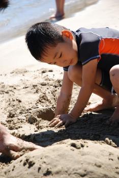 砂遊び~!