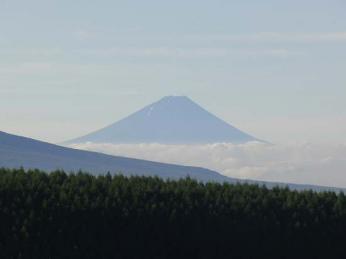 霧が峰からみえた富士山