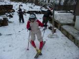 庭先スキーヤーたち