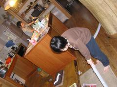 掃除と茶碗洗い