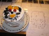 設計図とケーキ
