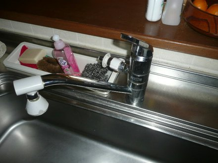 キッチンの水栓金具の取替え 神戸市長田区
