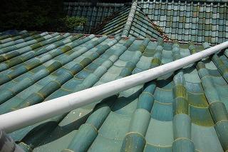 小田原文学館の屋根