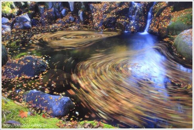 菊池渓谷 木の葉の舞 (2)