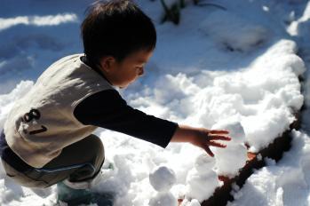 雪だるまいい子いい子