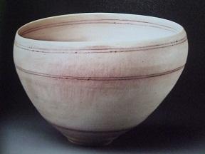 ピンク線文鉢