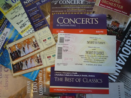 Concert Leaflets  Ticket S