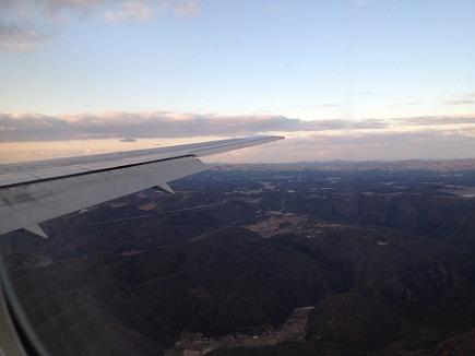 広島空港上空S