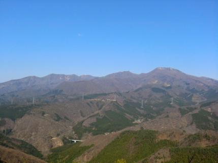 北の展望地から赤城山