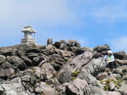 茶臼岳山頂で