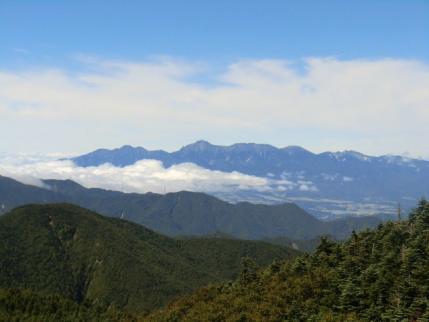 八ヶ岳は一日見えてた
