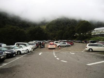 出発時の市営駐車場