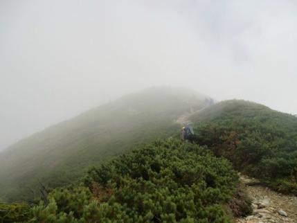 爺ヶ岳南峰へ
