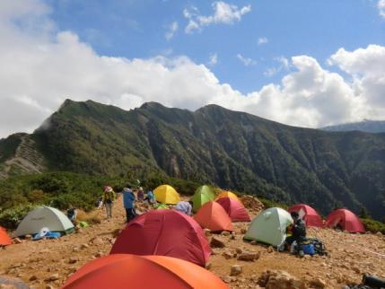 テント場から爺ヶ岳