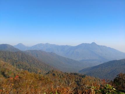 右から妙高・火打・焼山