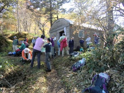 賑わいの一不動避難小屋