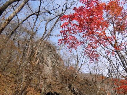 雌岳の屏風岩