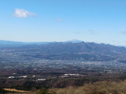 榛名山と浅間山