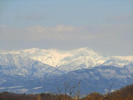 火起山から谷川岳方面