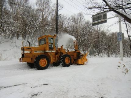 除雪作業中でした