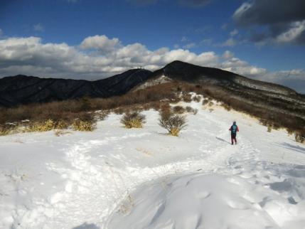 雪原を歩いて